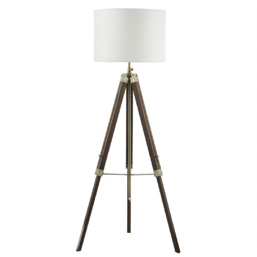 Easel Tripod Floor Lamp Dark Wood Base Only EAS4947 (Class 2 Double Insulated)